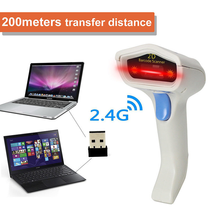 2D USB Wired Image Barcode Scanner PC Use Rechargeable Lithium Battery