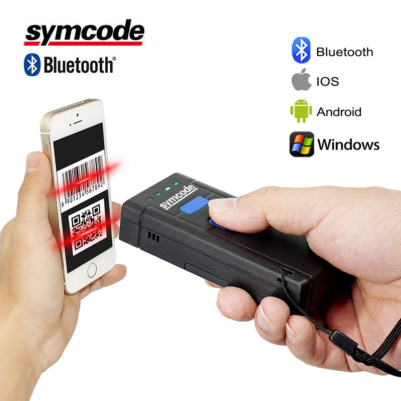 Portable 2D Wireless Handheld Barcode Scanner SPP Mode And Scan Switch